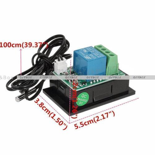 12V//24V//220V DEL numérique température Contrôleur Thermostat contrôle interrupteur sonde