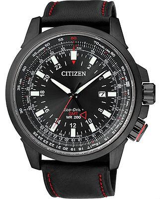 Citizen Eco-Drive GMT Japan Pilots Mens Watch BJ7076-00E