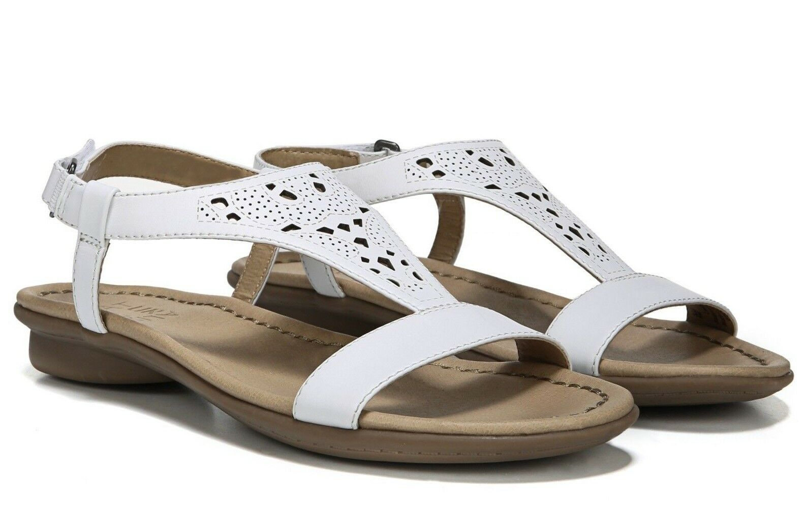 Naturalizer Windham Womens Size 8.5M White Leather Perforated Comfort Sandal New