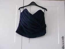 NEW SIZE LADIES 16 COLOUR DUSK BASQUE TYPE TOP SATIN EFFECT WITH NET ON FRONT