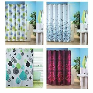 Image Is Loading Blue Canyon Shower Curtains 180x180cm Dandelion Mosiac Raindrop