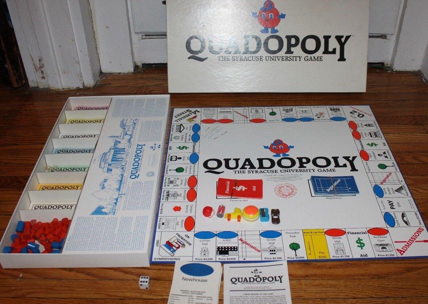 Quadopoly- The Syracuse University Game (1987) Syracuse Monopoly