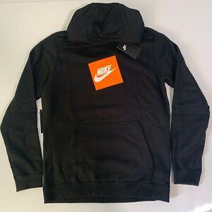 Nike-Sportswear-Logo-Top-Mens-Pullover-Hoodie-Black-Size-M-Casual-Sweatshirt