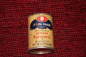 1937 Rajah Ann Page Strictly Pure Ground Turmeric Tin 2 Oz A&p Co Food & Beverage New Carefully Selected Materials Spices & Extracts