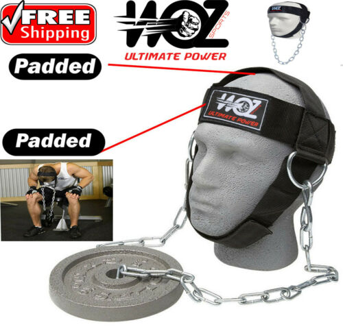 Details about  /HEAD HARNESS NECK STRENGHT HEAD STRAP WEIGHT LIFTING EXERCISE FITNESS CHAIN BELT