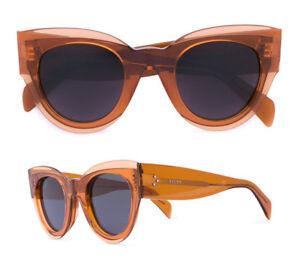 800084d66d8 Image is loading CELINE-Petra-Sunglasses-in-Transparent-Orange-Acetate-CL-