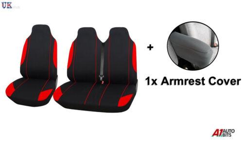2+1 Rojo asiento de tela suave y comodidad /& Apoyabrazos Cubiertas Para Opel Vivaro Movano