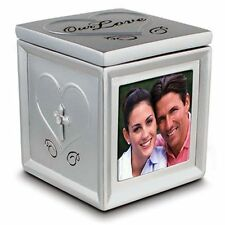 Our Love Photo Keepsake Box ~  Scripture quote Love is patient, love is kind....