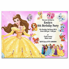 i12//pink Personalised Birthday party invitations invites 1st 2nd 3rd 4th 5th 6th