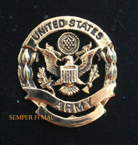 XL-MADE-IN-US-ARMY-BADGE-HAT-PIN-LOGO-SEAL-USA-WREATH-EAGLE-FORT-VETERAN-GIFT