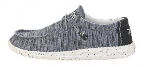 Dude Shoes Wally Sox Gris Multi facile Dentelle Chaussures//mules