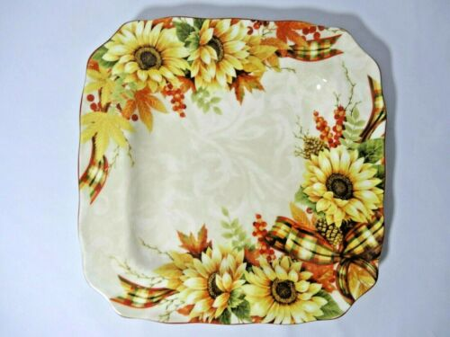 Designers Choice By Coventry Harvest Yellow Daisy Celebration Square Plate