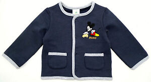 Neu-Disney-Mickey-Mouse-Sweatjacke-Jacke-Stretch-dunkelblau-62-68-74