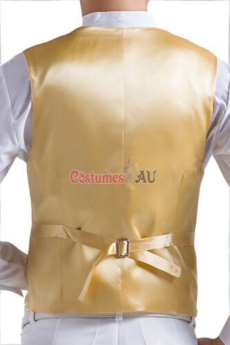 Mens Sequin Waistcoat 20s Disco Dance Magician Show Costume Bowtie Jazz Vest