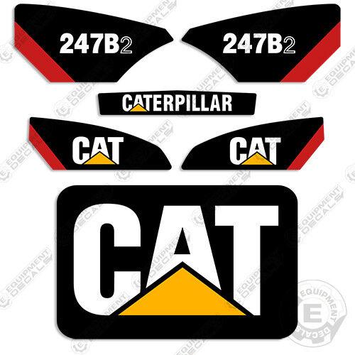Caterpillar 247B-2 Kit de de de equipos de deslizamiento Steer calcomanías de calcomanía d58e4e