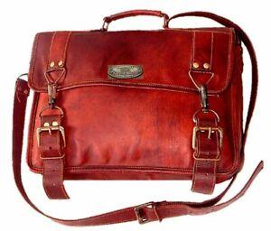 Vintage Canvas Leder Rucksack Rucksack Laptop Satchel Schulter Schultasche