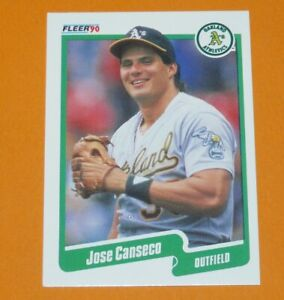 Details About Baseball Card 1990 Fleer 90 Jose Canseco Oakland Athletics As