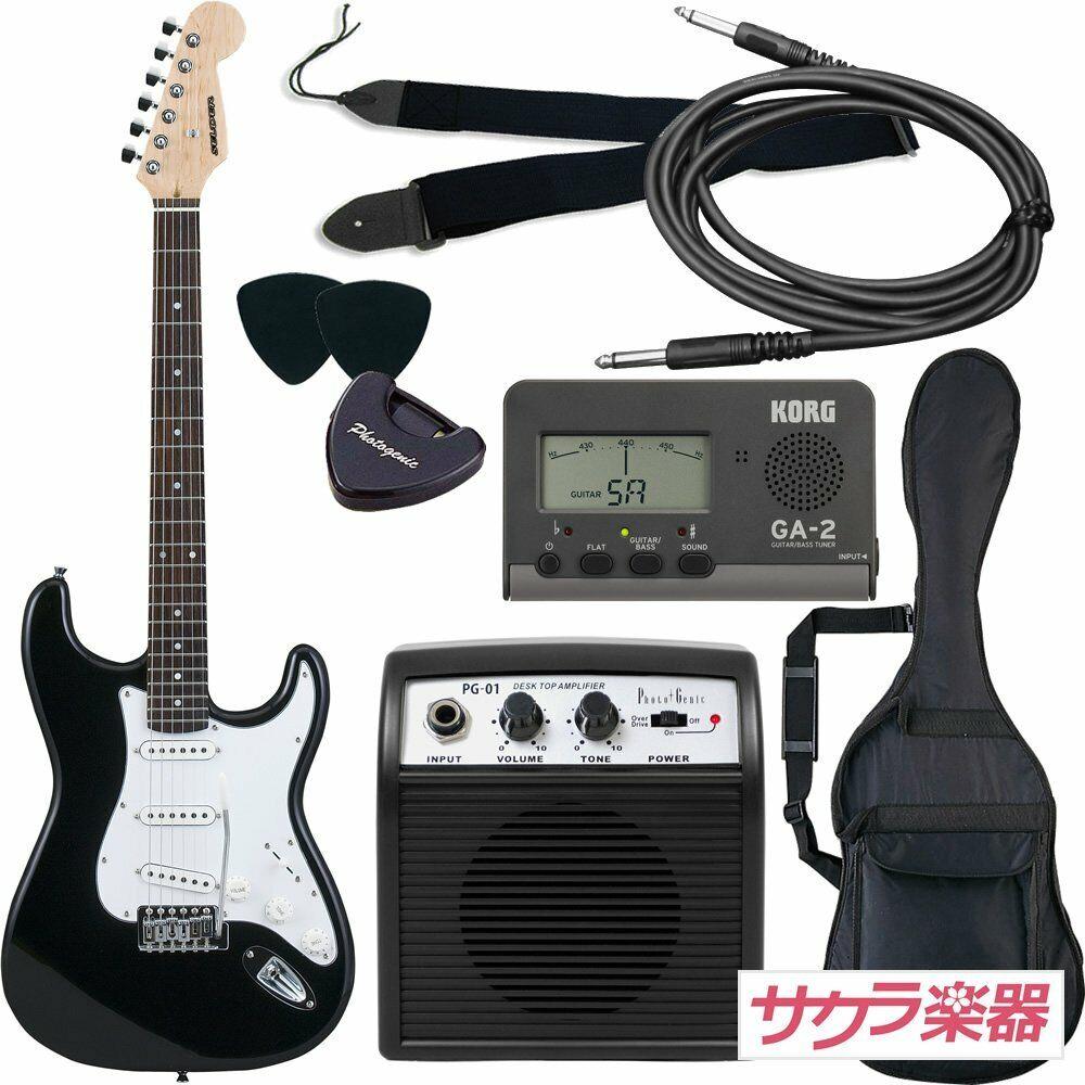 SELDER electric guitar ST-16 BK Stratocaster type beginner introductory JAPAN