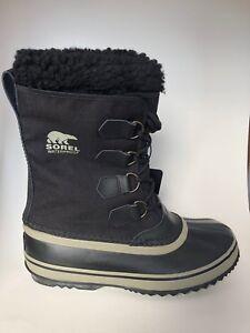 NEW-Sorel-Men-039-s-Boots-1964-Pac-Nylon-Black-Tusk-WATERPROOF-Pick-Size