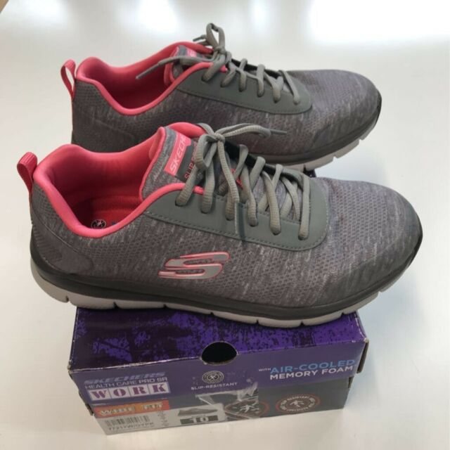 Skechers Womens Health Care Pro SR SNEAKERS Gray Red 77217W Low Top Shoes  10 for sale online   eBay