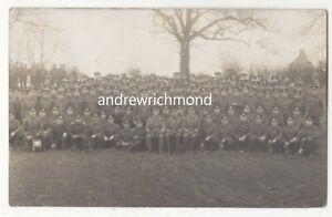 WW1-British-Soldiers-Group-Photo-Vintage-RP-Postcard-Military-189c