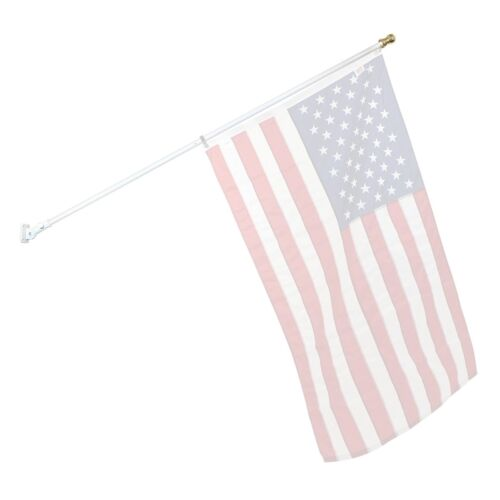 7ft Spinner Flagpole White Aluminum