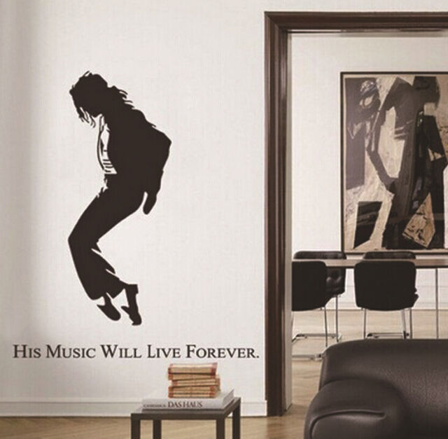 Dancing Art MUSIC LIFE Michael Jackson Wall Sticker Home Decor Vinyl Removable