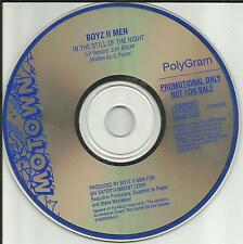 BOYZ II MEN In the Still of the Night PROMO CD Single JACKSON Miniseries Michael
