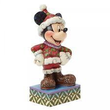 Disney Showcase Santa Mickey Mouse Figurine Merry Christmas  Decoration