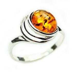 Lovely-Baltic-Amber-amp-925-Sterling-Silver-Designer-Ring-GL433A