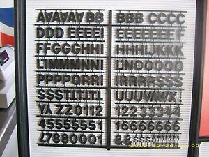 1&#034; Coca-Cola Black Menu Board Letters,Number<wbr/>s &amp; Symbols Set