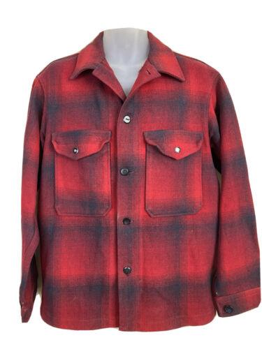 Pendleton Woolen Mills Mens Medium Red Plaid Wool