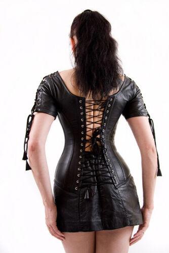 Corset-Chemisier en nappa cuir vache corset-Blouse XX