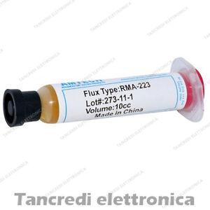 Flussante-in-gel-10-ml-10-cc-clone-AMTECH-RMA-223-stagno-saldatura-saldature