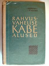 BOOK DRAUGHTS LIVRE DE JEU DE DAMES 1961  ISER KUPERMAN ULO KESKER