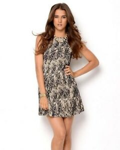 Details About Gabby Skye Floral Mesh Lace Sleeveless Dress Size 8