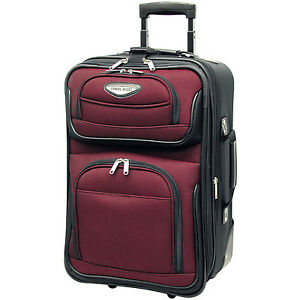"""Travel Select Red Amsterdam Carry-on 21"""" Expandable Rolling ..."""