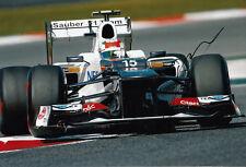 Sergio Perez Hand Signed Sauber F1 Team Photo 12x8 2.