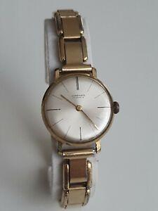 Junghans 17 Jewels Handaufzug Vintage 1950er Damen Rolled Gold Armbanduhr
