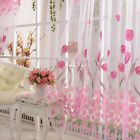 Floral Room Home Decor Voile Window Curtain Door Sheer Tulle Panel Drapes Scarfs