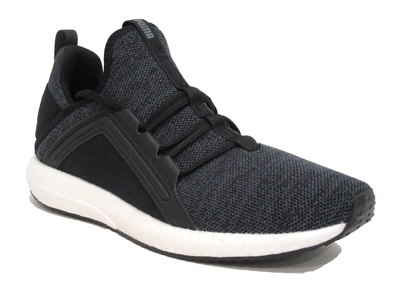 Puma Mega Nrgy Knit Men Round Toe Synthetic Black Sneakers 9 D(M) US