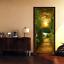 3D-Sunset-Wood-Bridge-Door-Wall-Mural-Wallpaper-Stickers-Vinyl-for-Bedroom thumbnail 1