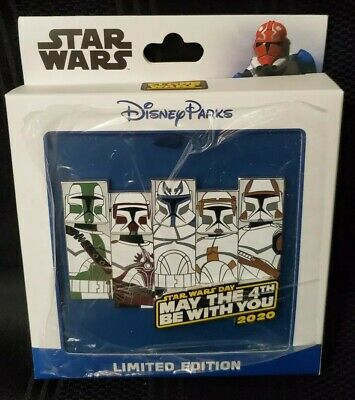Disney Star Wars Day 2020 Jumbo Pin Clone Troopers May the 4th LE 1500