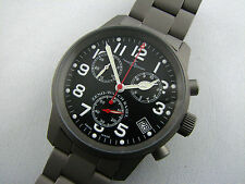 ZENO Pilot Classic Chronograph Titan mit Titanband Quarz