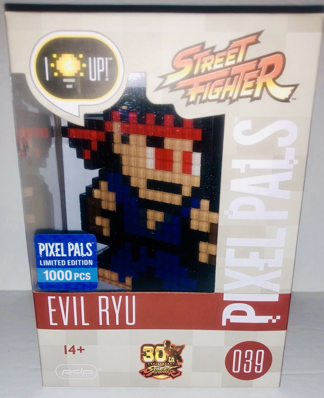 PIXEL PALS EVIL RYU RARE SDCC LIMITED EDITION EXCLUSIVE STREET FIGHTER FIGURE
