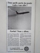 1966-68 PUB PAN AM AIRLINE COMPAGNIE AERIENNE JET BOEING AIRLINER ORIGINAL AD