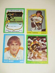 TOPPS TCG 1973 NHL ICE HOCKEY TRADING CARD LOT/4 BOSTON ... Bruins Roster 1973