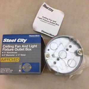 Thomas Betts Steel City Ceiling Fan Light Fixture Outlet Box 56111 Cfb 785991177244 Ebay