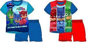 Boys Childrens Short Pjs Pajama Set PJ Mask