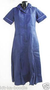 Alexandra-HG353-Navy-Ladies-Nurses-Carer-Nurse-Medic-Unhemmed-Dress-L6-SN11